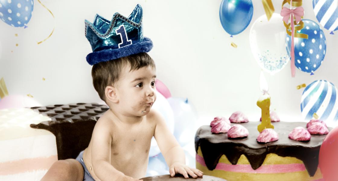 Smash Cake de Rodrigo
